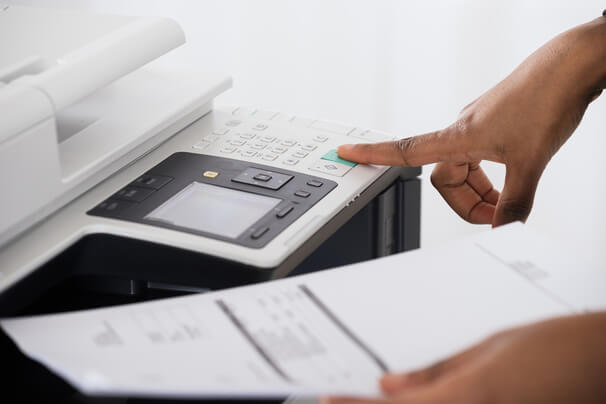 Faxing from printer