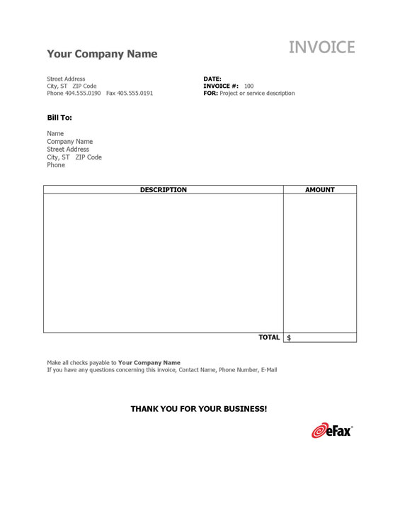 photo relating to Fax Templates identified as Pre-Formatted Fax Templates - eFax®