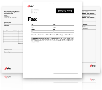 picture relating to Fax Templates named Pre-Formatted Fax Templates - eFax®